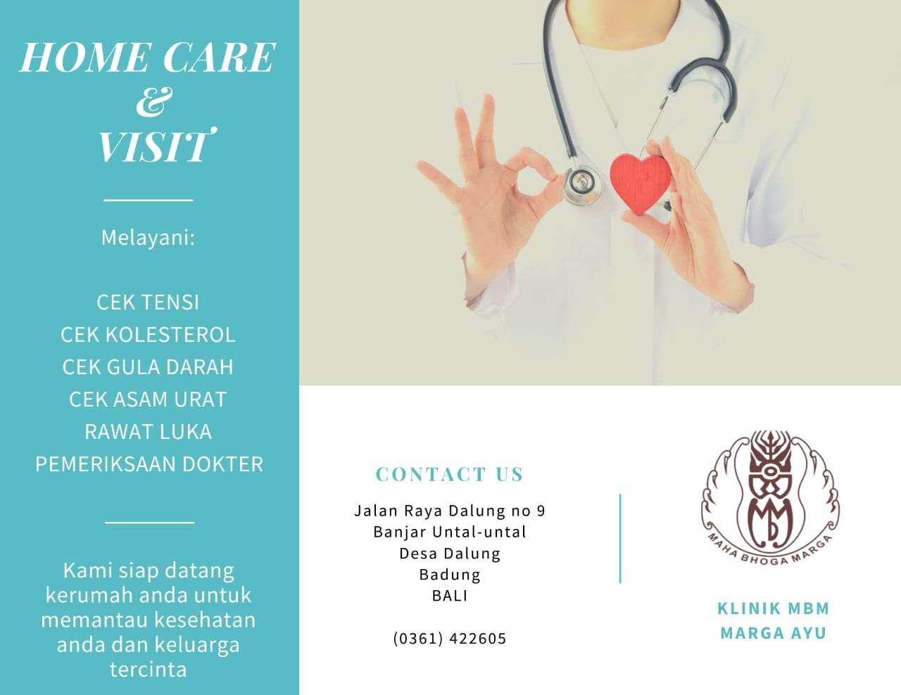 Klinik MBM Marga Ayu melayani Home Care & Visit