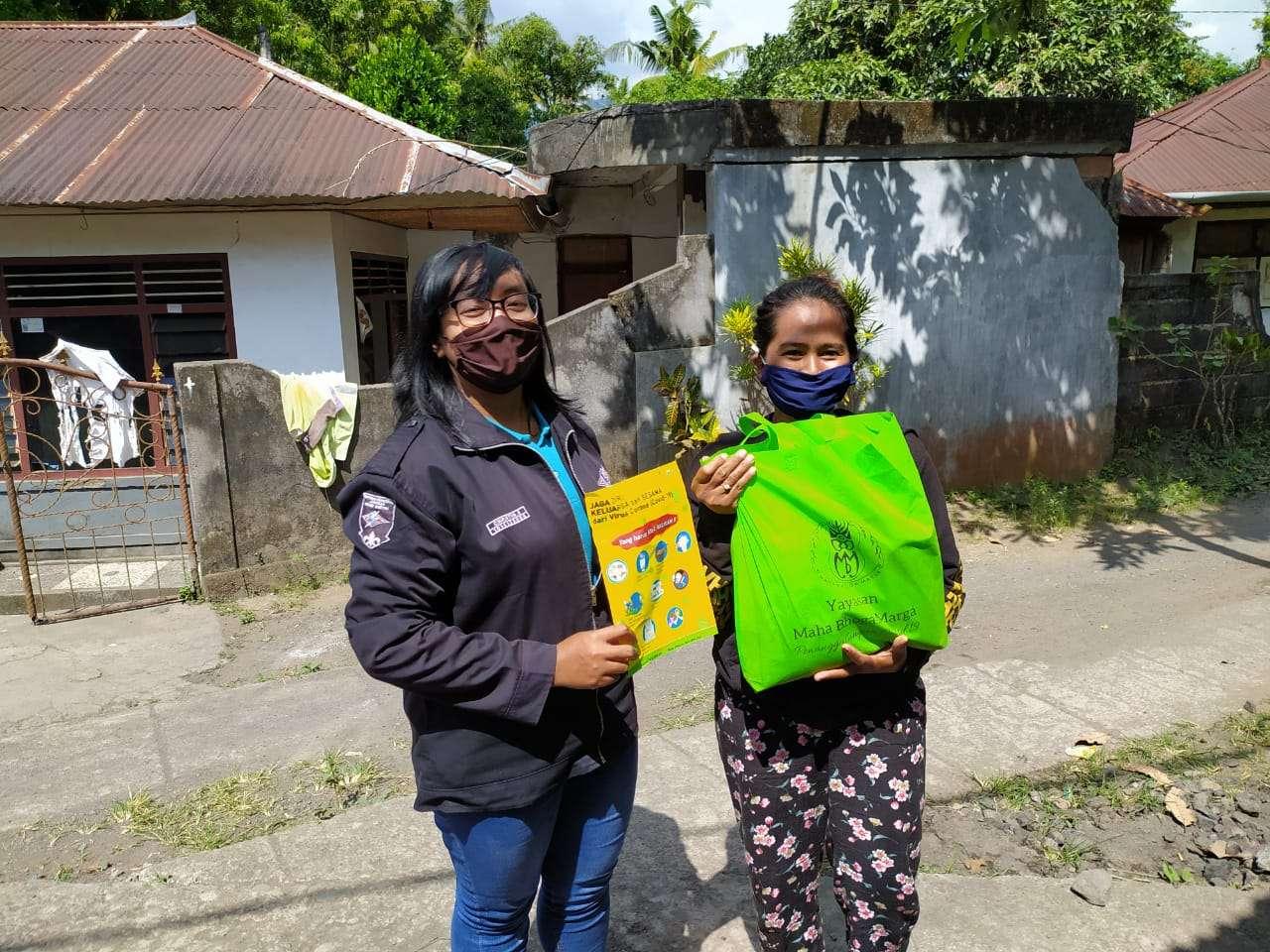 Support bahan makanan untuk anggota kelompok dampingan MBM