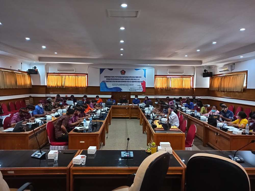 Bimbingan Teknis Penyusunan Rancangan APBD Desa Tahun 2021